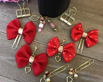 VALENTINE BLISS Bow Planner Clip TN Charm