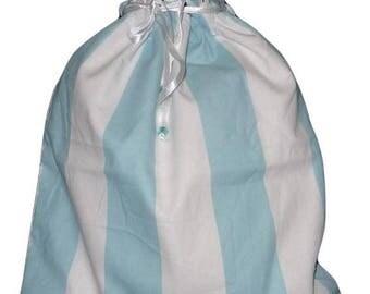 Double BLUE LINE - child laundry bag, laundry bag