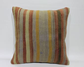 Kilim Cushion Cover,Decorative Pillow,Vintage Turkish Kilim Pillow,Turkey Pillow Cushion Cover Rustic Pillows Throw Pillows,Pillows   2625
