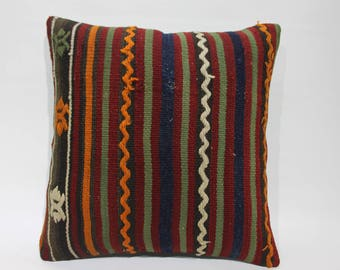 Kilim Cushion Cover,Decorative Pillow,Vintage Turkish Kilim Pillow,Turkey Pillow Cushion Cover Rustic Pillows Throw Pillows,Pillows   2665