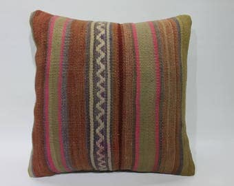 Kilim Cushion Cover,Decorative Pillow,Vintage Turkish Kilim Pillow,Turkey Pillow Cushion Cover Rustic Pillows Throw Pillows,Pillows  2687
