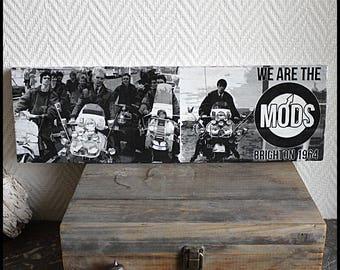 "Transfer image on wood ""MODS"""