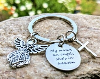 Angel keychain, key chain, Remembrance gift, Condolence gift, Loss of mom, Loss of Mother, Memorial gift, Memorial Keychain, Angel Keyring
