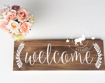 Welcome Sign // Welcome // Home Decor // Housewarming Gift // Wedding Gift // Wood Sign // Rustic Decor