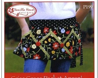 SALE! Criss Cross Pocket Apron & Pot holders/Oven Mitts Pattern - Vanilla House Designs