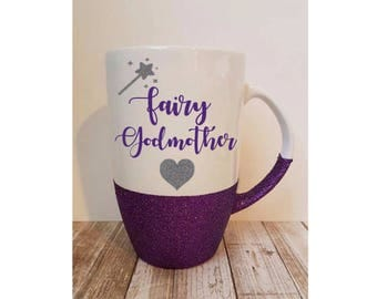 Fairy Godmother Mug, Godmother Gift, Godmother Mug, Godmother Latte, Fairy Godmother Mug. Fairy Godmother, Godmother Announcement