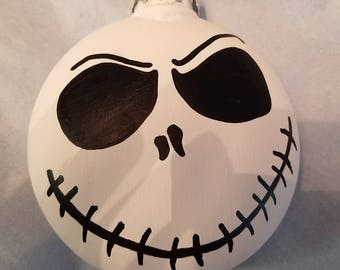 Nightmare Before Christmas Jack Skellington Ornament, Personalized!