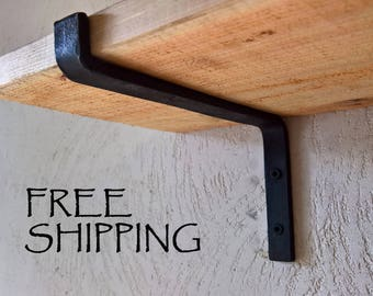 SALE! Steel Shelf Bracket, Forged, Iron Shelf Bracket, Kitchen Bracket, Metal Shelf Bracket, Open Shelf, Custom Shelving, Farmhouse, Rustic