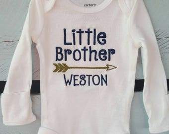 Personalized Little Brother arrow shirt
