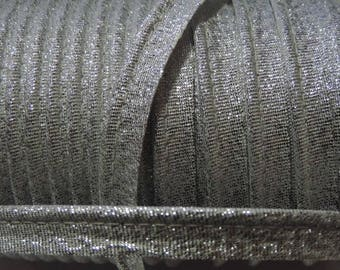 Piece 4.92 m : Lurex soft piping / 101 Silver