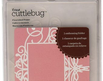 Cricut Cuttlebug Embossing folder, Flourished Frame, Size A2. Item is new.