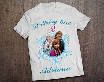 Personalized Frozen Iron On Transfer. PERSONALIZED Birthday Shirt. Frozen Shirt. DIGITAL FILE. Anna Elsa Olaf