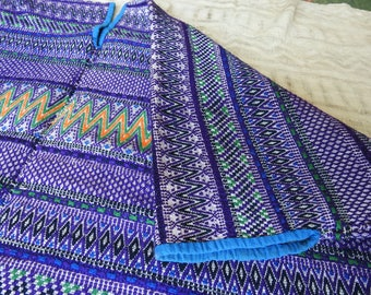 Purple Huipil Guatemalan San Martin Jilotepeque Vintage - Hand-Loomed, Embroidered and Brocaded 1980's
