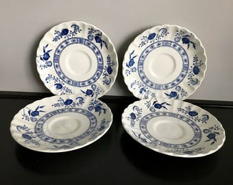 J&G Meakin Blue Nordic Saucer - 4 Available!!