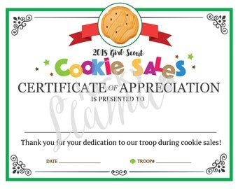 girl scout award certificate templates - girl scouts etsy