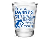 50x Custom Birthday Party Favors Personalized Shot Glasses | 1.75oz Clear | I Was There (1A) Any Age | 48 Imprint Colors | READ DESCRIPTION
