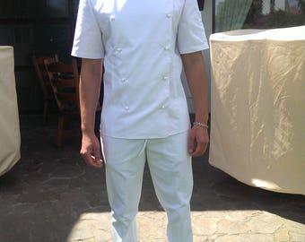 Chef jacket Chef Coat Personalized Embroidered Monogram black Chef jacket Uniform Chef Uniform Jacket coat chef