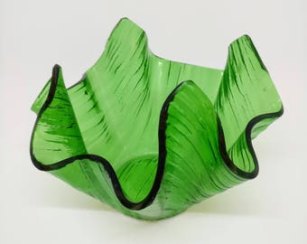 Chance Glass Green Handkerchief Vase