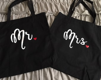 Custom Bags - Set of Mr & Mrs