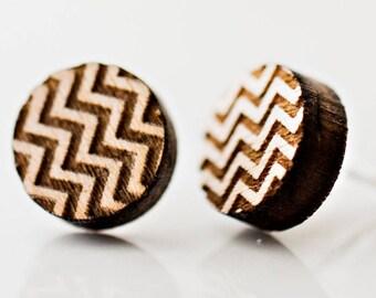 Chevron Pattern Stud Earrings Kids Gifts