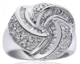 0.75 carat Diamond Kink Ring 14K White Gold
