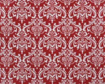 Premier Prints Fabric | Madison Lipstick red Fabric | Designer Fabric | Outdoor Fabric | Upholstery Fabric | Pink fabric | Red Damask fabric