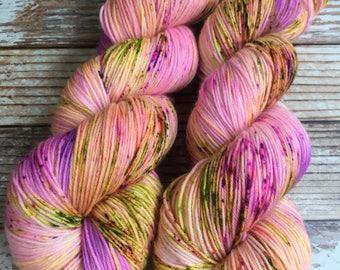 Isabel - Barbie Girl  - Hand Dyed Yarn - 75/25 Superwash Merino/Nylon