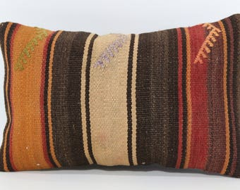 Naturel Kilim Pillow Turkish Kilim Pillow 12x20 Lumbar Kilim Pİllow Sofa Pillow Home Decor Cushion Cover SP3050-995