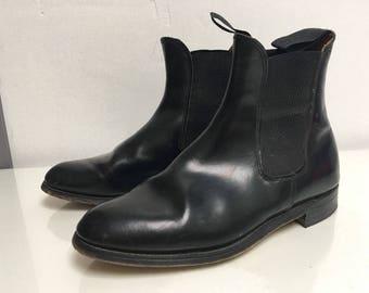 Regent - True vintage leather chelsea ankle boots uk size 7