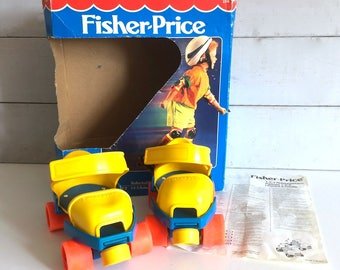 1990s Fisher Price 1-2-3 Grow With Me Roller Skates