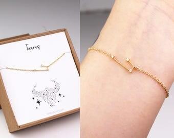 Taurus bracelet, constellation bracelet, Taurus horoscope, bracelet, zodiac jewelry, Taurus zodiac, horoscope bracelet, zodiac bracelet