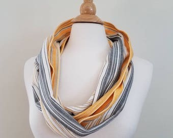 Wrap Scrap Scarf - Infinity Scarf - Girasol - Wrap Scrap - Babywearing - Striped - Space Wars - Geek Gift - Droid