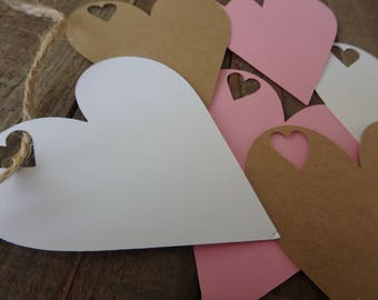 30 Heart Tags , Valentines Day Tags , gift Tags