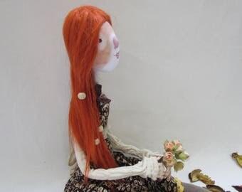 poupée d'art, poupée de chiffon, poupée de tissu, art textile, poupée fait main, poupée ooak, fabricant de poupée, poupée de chiffon, tissu, poupée de poupée poupée fait main, articulée,