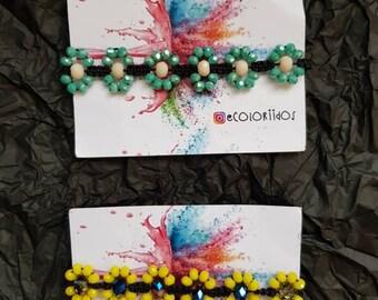 Beautiful flower bracelets