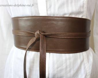 Lambskin leather belt