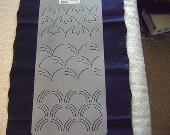 Sashiko Japanese Quilting/Embroidery Stencil 3 in. Overall Sashiko Motifs/Quilting
