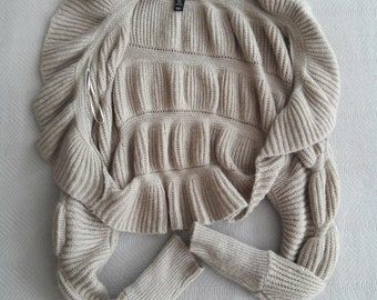 TAN SWEATER SHRUG