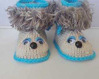 ON SALE Baby Booties, Baby Boots, Baby booties, baby shoes, baby boots,baby slippers,baby gift, knitted baby booties, baby shower, newborn,