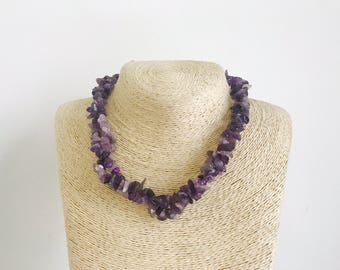 Amethyst necklace purple necklace stone necklace amethyst stone necklace