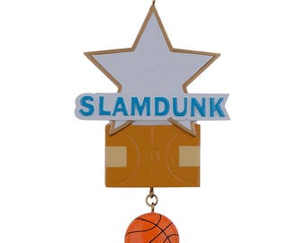 Basket ball Personalized Christmas Tree Ornament Holiday Gift
