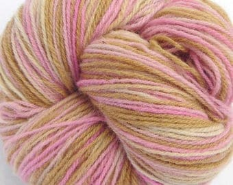 "Wool, hand paint multicolor knitting yarn ""Dream"" DK 3-ply worsted 100g/250m"