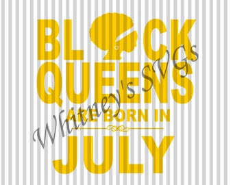Black Queens Are Born **Includes All 12 Months** SVG DXF Cutting File