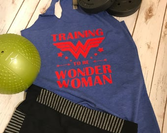 Training To Be Wonder Woman Workout Tank/ On sale!