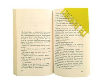 Bookmark - paper cut - corner bookmark - asleep here - stationery