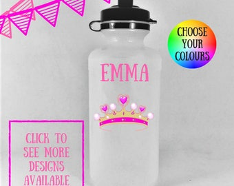 Personalized kids water bottles, water bottle kids, personalized water bottle, personalized drink bottle, kids water bottle, girls lunch box