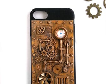 Steampunk iPhone 7 Case Steampunk Phone Case iPhone Case Dieselpunk iPhone Case Steampunk accessories for iPhone Christmas Gift idea for men