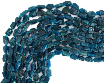 """6-8mm matte faceted apatite nugget beads 15.5"""" strand 39366"""