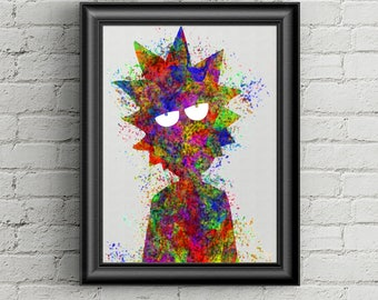 Rick Sanchez Rick and Morty Poster A2 | Wall Decor | Home Decor | Fan Art | Awesome Wall Art | Gift | Vertical | Adult Swim
