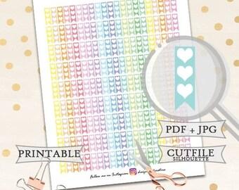 50% OFF SALE Erin Condren Planner Stickers/Pastel Half Flag Stickers/Printable Planner Stickers/Happy Planner Stickers/Basic Stickers/